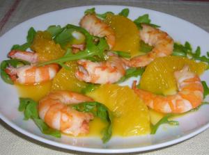 salade d'ananas aux gambas